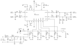Rangkaian TDA1524 Stereo Tone Control